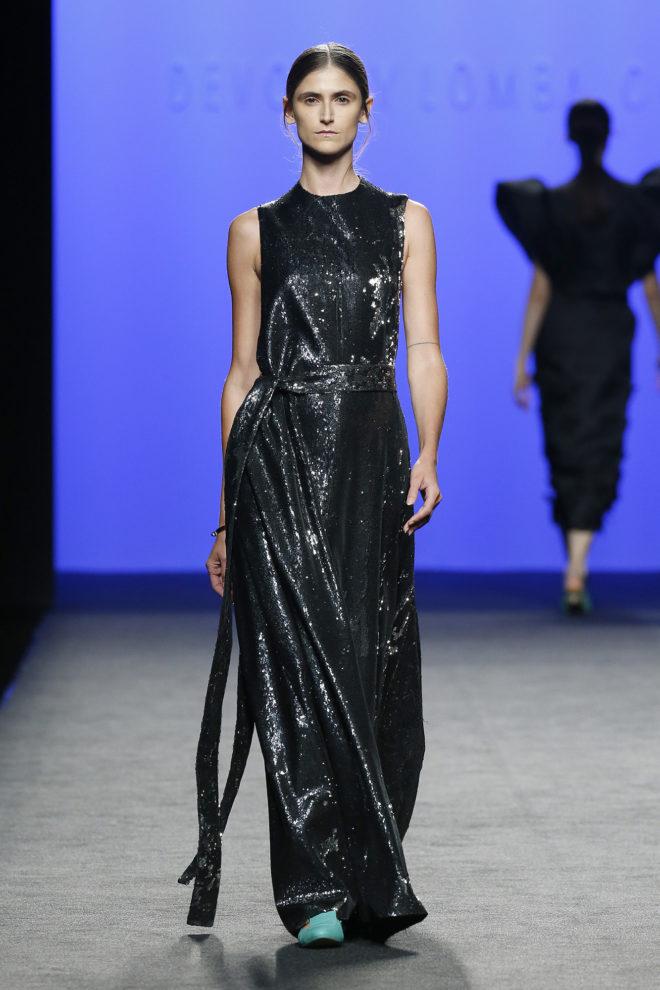 Vestido negro plata lentejuelas