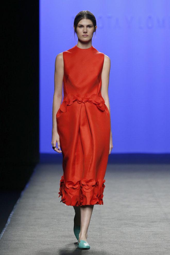 Vestido rojo seda