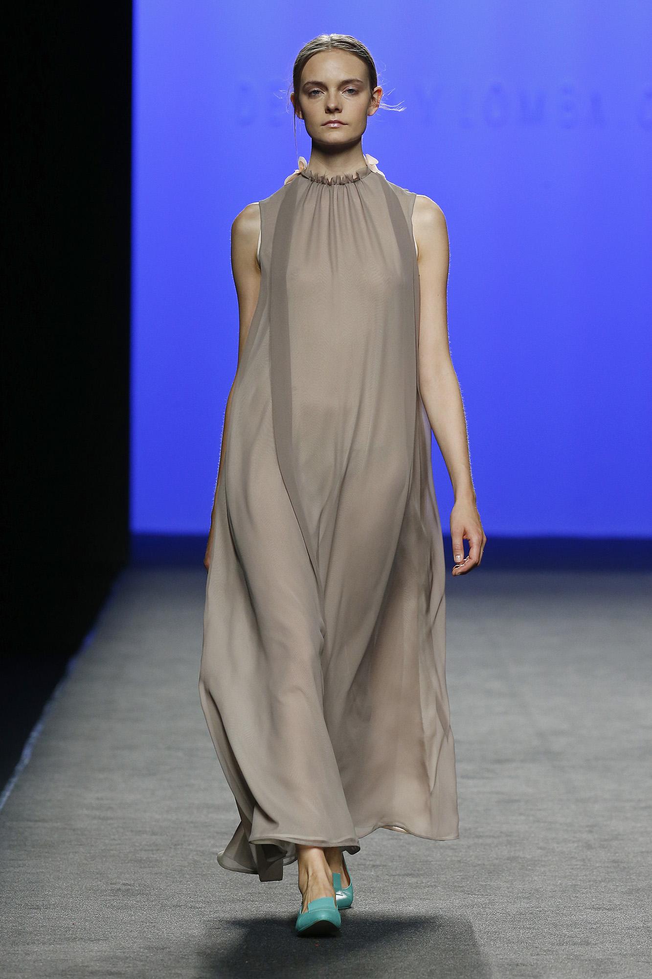 Vestido largo gasa de seda