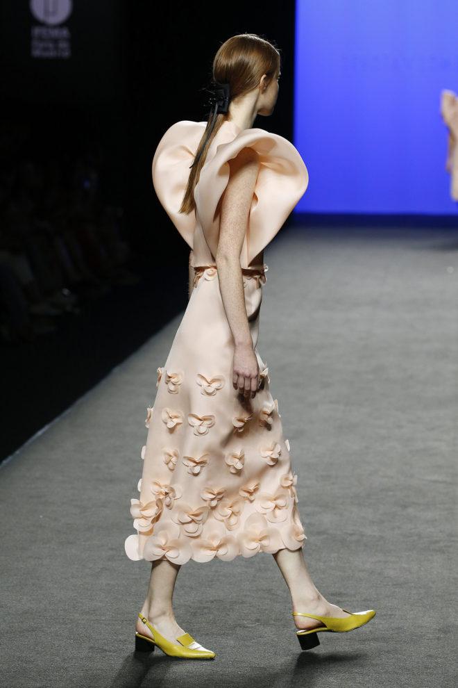 Falda midi organza de seda