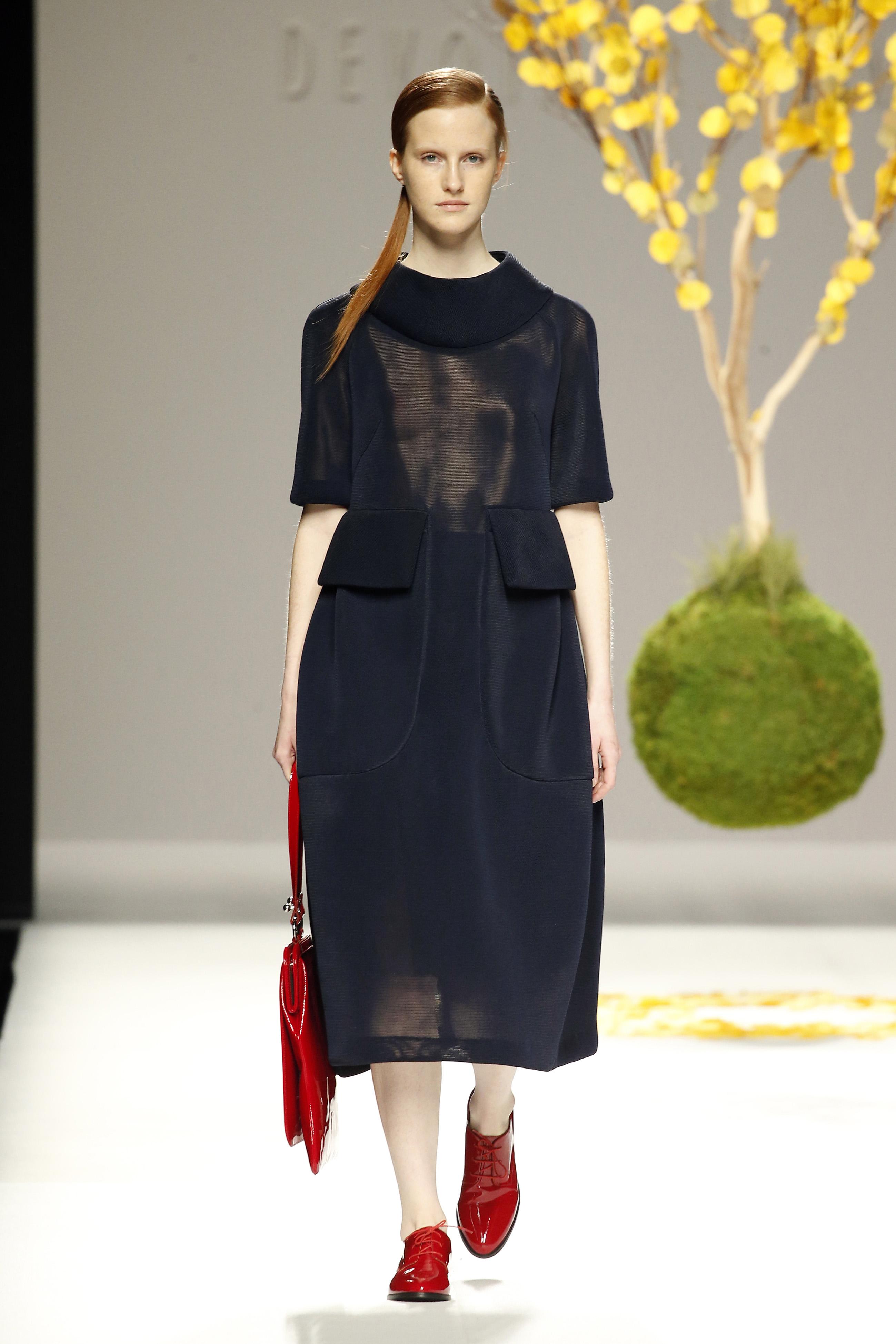 Vestido negro poliamida
