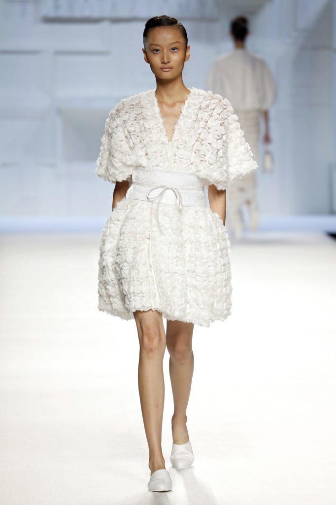 Vestido blanco flores