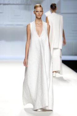 Vestido blanco largo recto