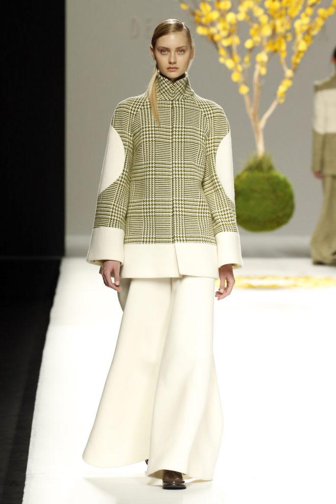 Chaquetón tres cuartos lana