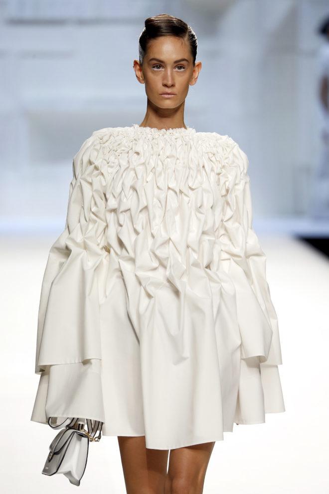 Vestido blanco nido de abeja