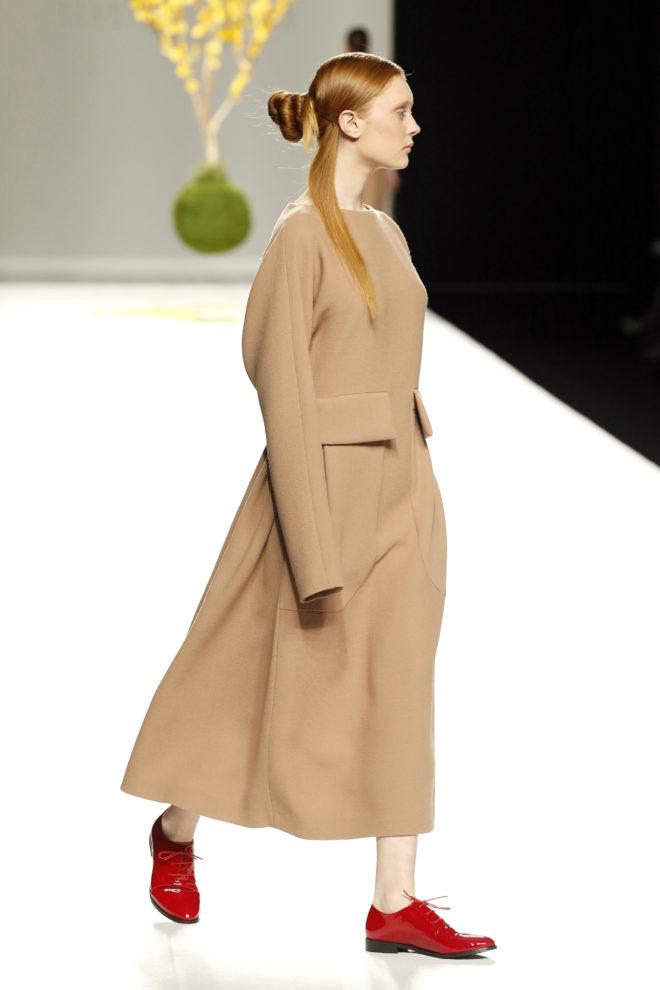 Vestido crepe lana